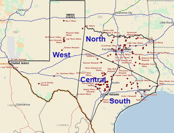 Texas Wineries Overview